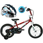 image of Mongoose Scan R14 Kids' BMX Bike, Helmet & Bell Bundle