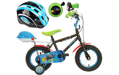 image of Apollo Moonman Kids' Bike, Helmet & Bell Bundle
