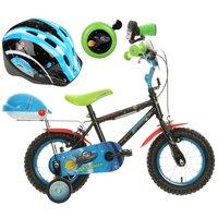 Apollo Moonman Kids' Bike, Helmet & Bell Bundle