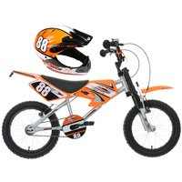 "Motobike MXR750 16"" Kids' Bike & Helmet Bundle"