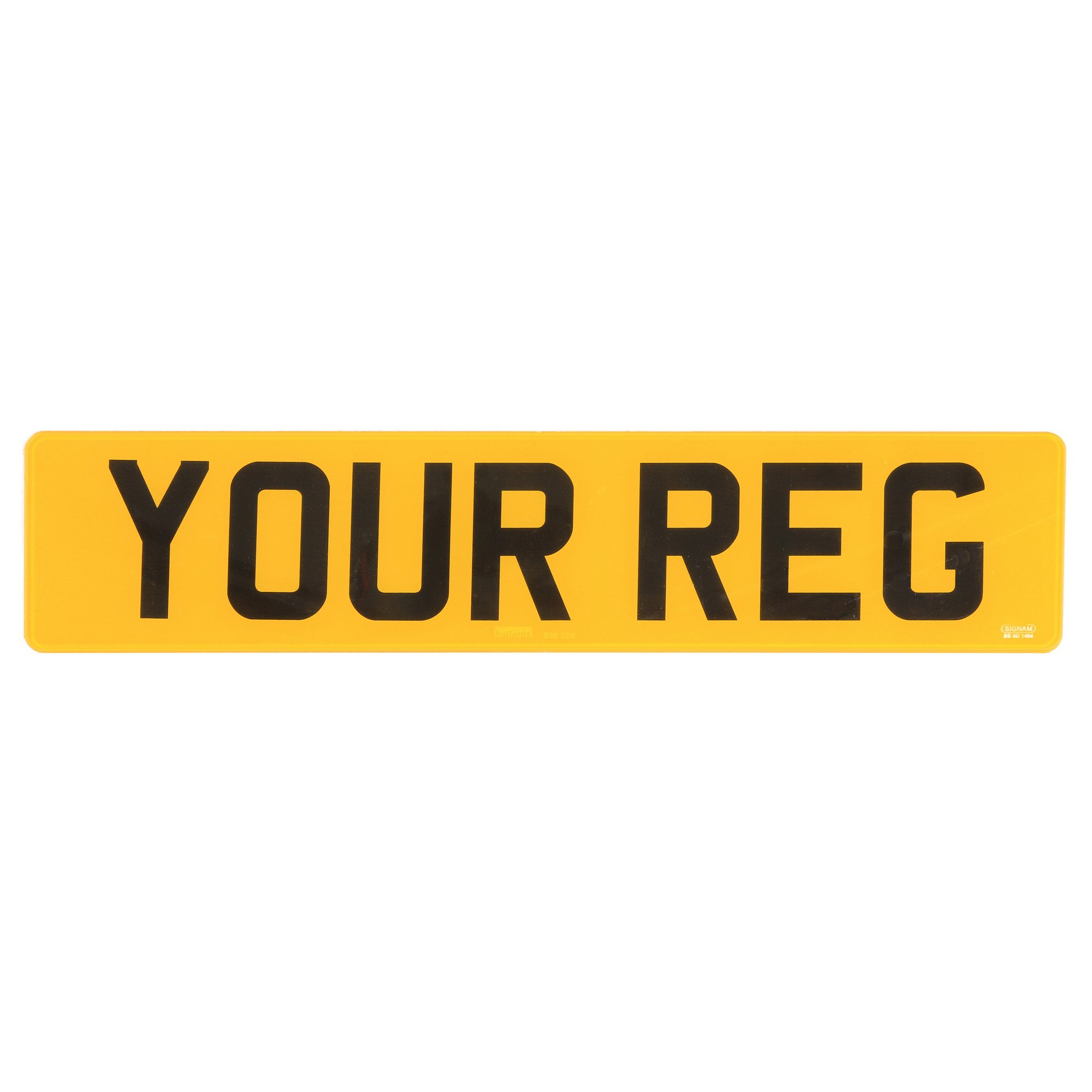 Car colour number plate - Rear Number Plate Zoom