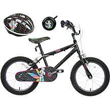 image of Disney Tinkerbell Kids' Bike, Helmet & Bell Bundle