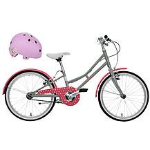 "image of Pendleton Junior Hanberry Girls Bike - 20"" & Junior Bike Helmet (Purple) Bundle"