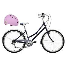 "image of Pendleton Junior Heath Girls Bike - 26"" & Junior Bike Helmet (Purple) Bundle"
