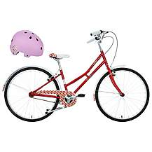 "image of Pendleton Junior Littleton Girls Bike - 26"" & Junior Bike Helmet (Purple) Bundle"