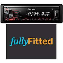 image of Pioneer MVH-390BT Bluetooth Car Stereo Fully Fitted Bundle