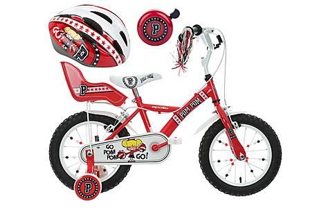 image of Apollo PomPom Kids' Bike, Helmet & Bell Bundle