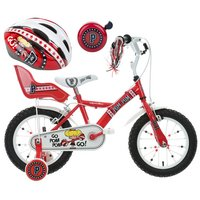 Apollo PomPom Kids' Bike, Helmet & Bell Bundle