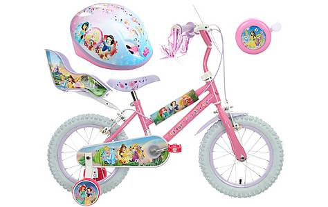 image of Disney Princess Kids' Bike, helmet & Bell Bundle