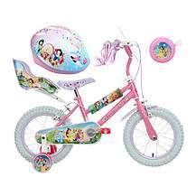 image of Disney Princess Kids' Bike, helmet & Bell Bundle