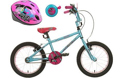 image of Apollo Roxie Kids' Bike, Helmet & Bell Bundle