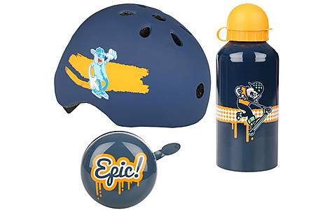 image of Rudeboy Junior Helmet, Bottle & Bell Bundle