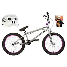 image of Mongoose Scan R70 BMX bike, Helmet & Gloves Bundle