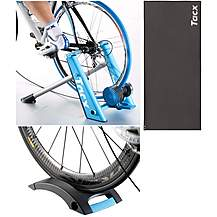 image of Tacx Blue Matic Turbo Trainer Bundle with Tacx Mat and Skyliner Rise Block