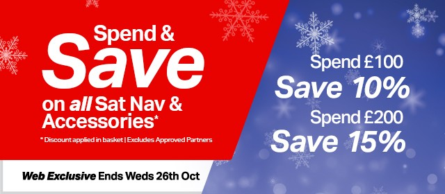 Spend and save on all sat nav and accessories