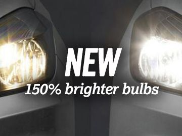 New 150% Brighter Bulbs