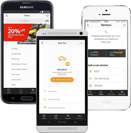 Halfords App Features