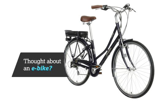 thought about an e-bike?