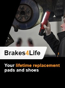 Brake pads and shoes lifetime replacement