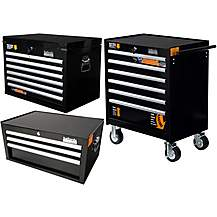 image of Halfords Industrial Cabinet and Chest Bundle