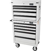 image of Halfords Industrial 4 Drawer Chest and 5 Drawer Tool Cabinet Bundle