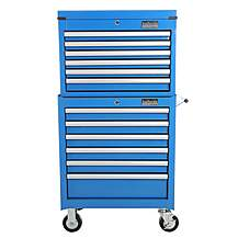 image of Halfords Industrial 6 Drawer Chest and Cabinet Bundle - Blue