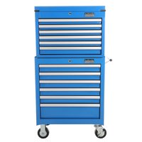 Halfords Industrial 6 Drawer Chest and Cabinet Bundle - Blue