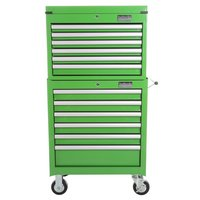 Halfords Industrial 6 Drawer Chest and Cabinet Bundle - Green