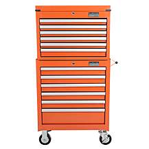 image of Halfords Industrial 6 Drawer Chest and Cabinet Bundle - Orange
