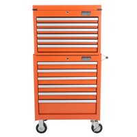 Industrial bundle Tool Cabinet and Tool Chest in Orange