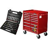 The Halfords 7 Drawer Cabinet and Professional Screwdriver & Bit Set Bundle