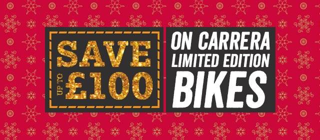 Save £100 On Carrera Limited Edition Bikes