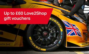Up to £60 Love2Shop vouchers with selected Dunlop tyres
