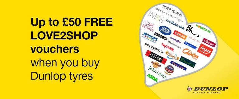 Image for Dunlop tyres Love2shop offer article