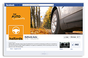 Facebook Halfords Auto