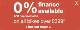 0% finance available on all bikes over £399