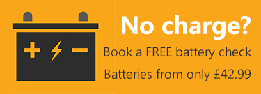 Batteries from only £42.99 - Book a FREE Battery Check Today