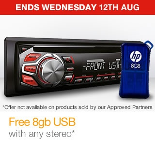Free 8gb USB with any stereo