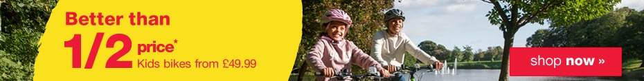 Half price kids bikes from �49.99