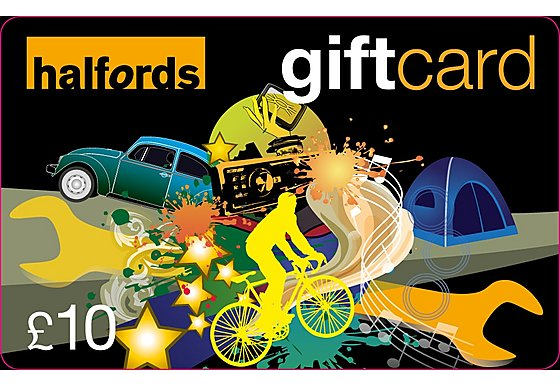 Halfords 10 Pound Gift Card