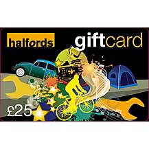 image of Halfords 25 Pound Gift Card