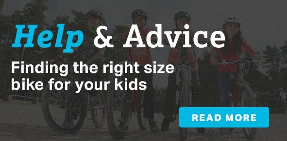 Finding the right size bike for your kids
