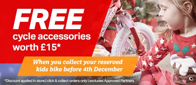 FREE cycle accessories worth �15