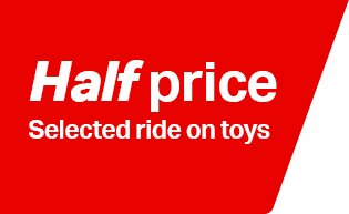 half price selected ride on toys