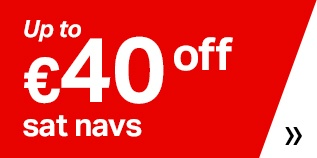 Up to €40 sat navs