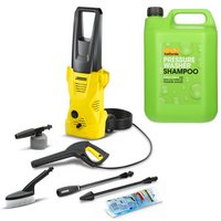 Karcher K2 Car Pressure Washer & Halfords Pressure Washer Shampoo Bundle