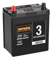 Halfords Lead Acid Battery HB028