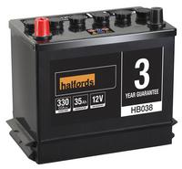 Halfords Lead Acid Battery HB038
