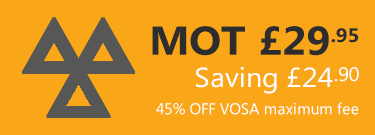 MOT only £29.95 - Save 45% OFF VOSA Maximum Fee