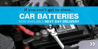 Car Batteries now available for next day delivery